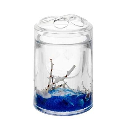 Стакан для зубных щеток настольный Sea цвет прозрачный