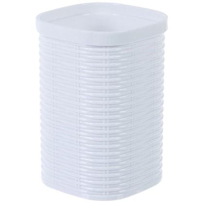 Стакан для зубных щеток настольный Swensa Rotang пластик цвет белый