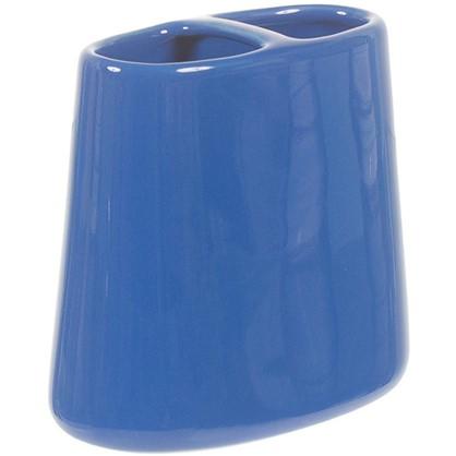 Стакан для зубных щеток настольный Veta керамика цвет синий