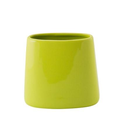 Стакан для зубных щеток Veta керамика цвет лайм