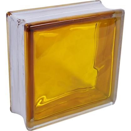 Стеклоблок Богема Волна цвет ярко-медовый