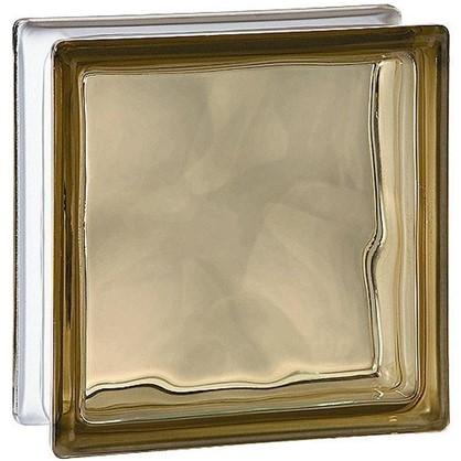 Стеклоблок Богема Волна окрашенный в массе цвет бронзовый