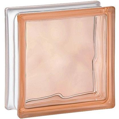 Стеклоблок Богема Волна окрашенный в массе цвет розовый