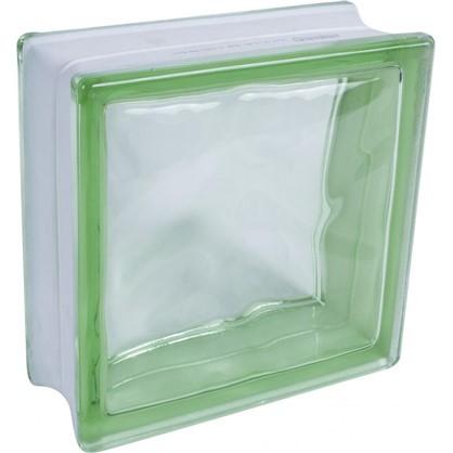 Стеклоблок Богема Волна окрашенный в массе цвет зелёный