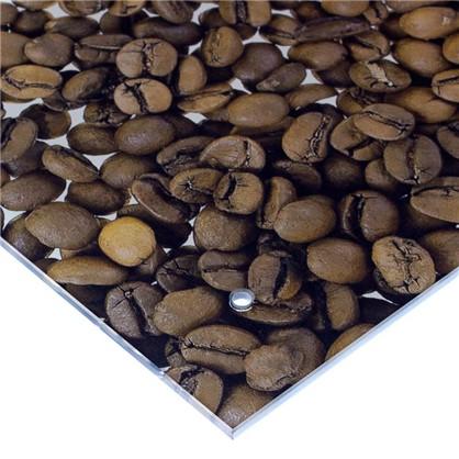 Стеновая панель Кофе 90x0.6x60 см стекло цвет бело-коричневый