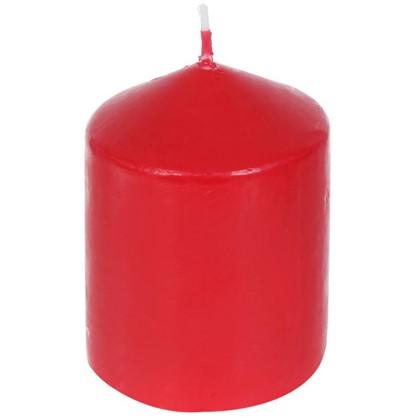 Свеча-столбик 6х8 см цвет красный
