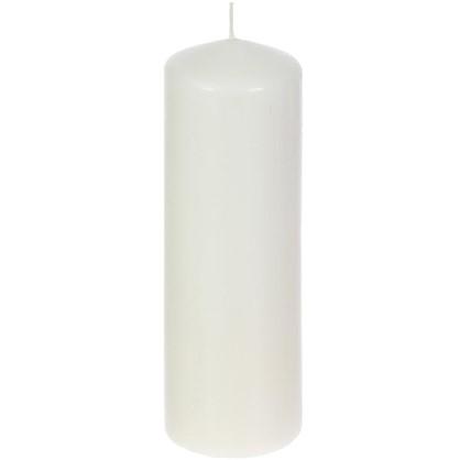 Свеча-столбик 8/25 см цвет бежевый