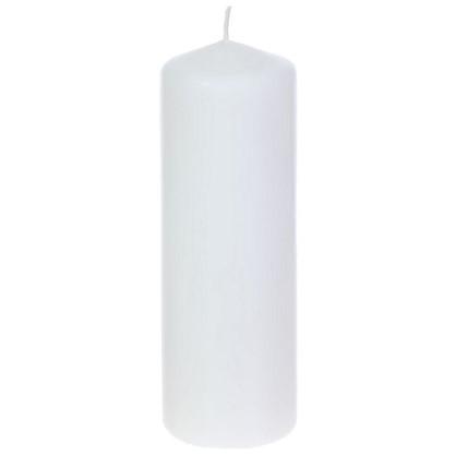 Свеча-столбик 8х25 см цвет белый