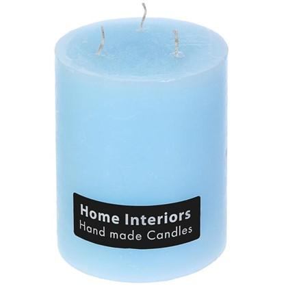 Свеча-столбик Рустик 10х12 см цвет голубой