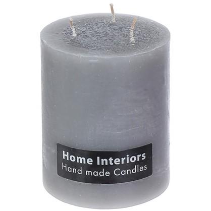 Свеча-столбик Рустик 10х12 см цвет серый