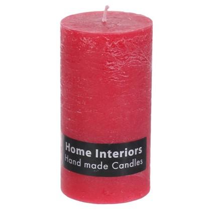 Свеча-столбик Рустик 7х13 см цвет красный