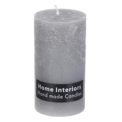 Свеча-столбик Рустик 7х13 см цвет серый
