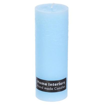 Свеча-столбик Рустик 7х19 см цвет голубой