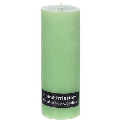 Свеча-столбик Рустик 7х19 см цвет зелёный