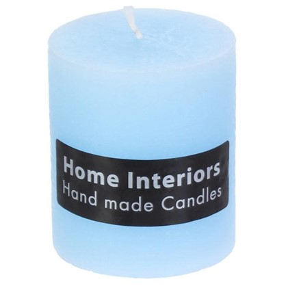 Свеча-столбик Рустик 7х8 см цвет голубой