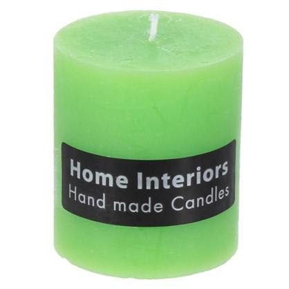 Свеча-столбик Рустик 7х8 см цвет зелёный