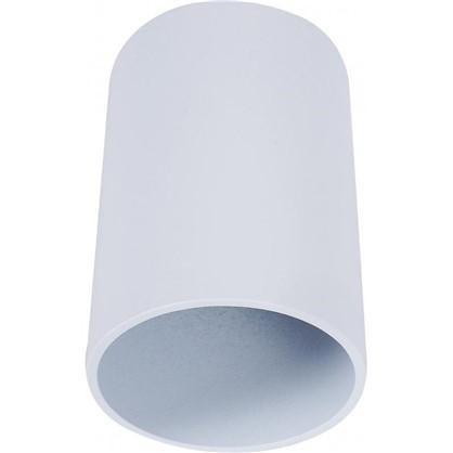Накладной светильник цилиндрический цоколь GU10 8 см цвет белый