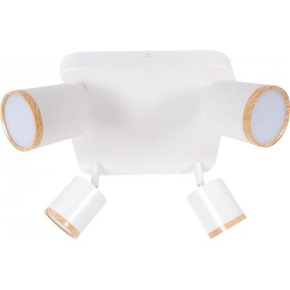 Светильник накладной поворотный Wolta SPOT06-CLL20W-4 20 Вт цвет белый/дерево