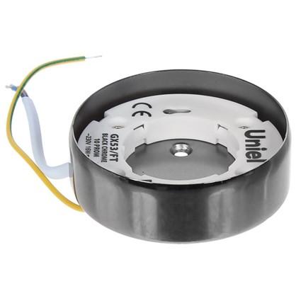 Накладной светильник Uniel GX53 цвет черный хром