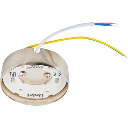 Накладной светильник Uniel GX53x16 Вт цвет никель