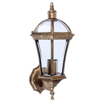 Светильник настенный уличный Capella 60 Вт IP44 цвет черное золото
