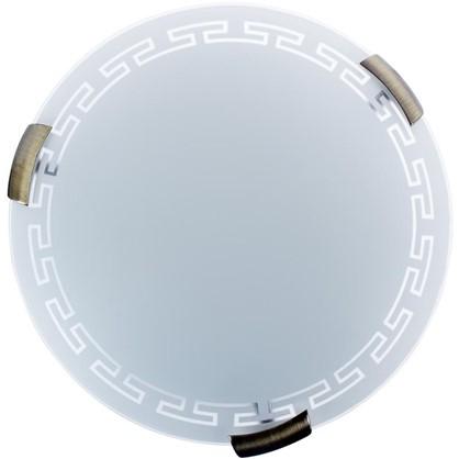 Светильник настенно-потолочный Greca 2xE27x60 Вт металл/стекло