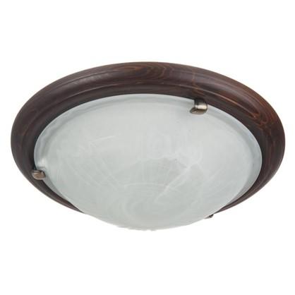 Светильник настенно-потолочный Wood 2xE27x60 Вт цвет темный орех