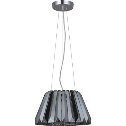 Светильник подвесной Inspire Crystal 1 лампа 2 м2 цвет черный прозрачный/черный хром