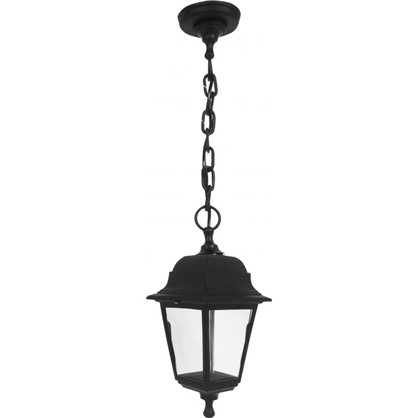 Светильник подвесной уличный 1xE27x60 Вт пластик цвет черный