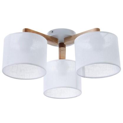 Светильник потолочный Белла 3хЕ27х60 Вт цвет белый/дерево