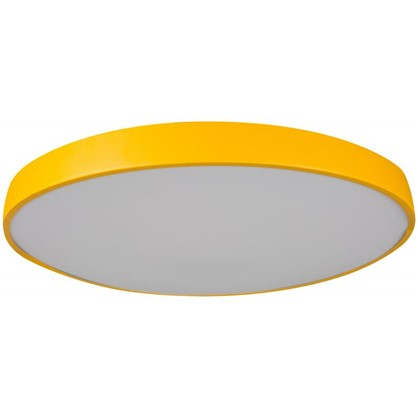 Светильник потолочный светодиодный Color 27 м² цвет желтый