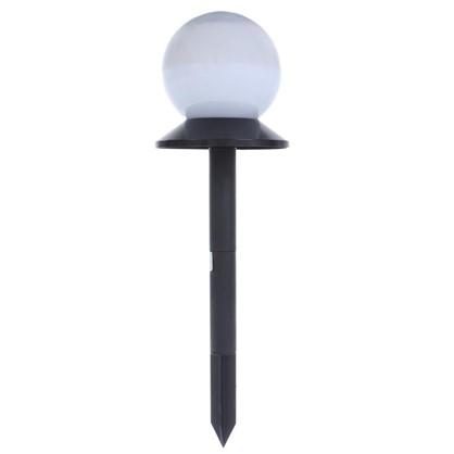 Светильник садовый светодиодный Старт Сфера на солнечной батарее цвет матовый