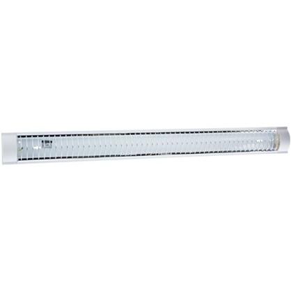 Лампа дневного света TDM Electric ЛПО3017 с решеткой 2х36 Вт металл/пластик цвет белый