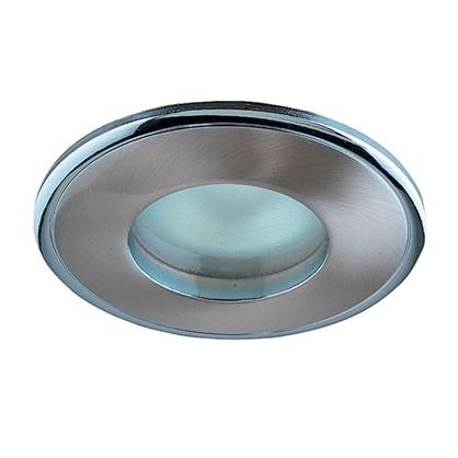 Светильник встраиваемый Aqua цоколь GU5.3 50 Вт цвет никель/хром IP65