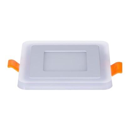 Встраиваемый светильник Gauss Backlight BL121 квадрат 3+3 Вт свет холодный белый