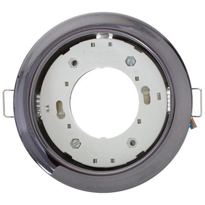 Встраиваемый светильник R75 цоколь GХ53 13 Вт цвет черный хром