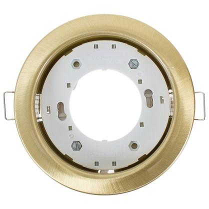 Встраиваемый светильник R75 цоколь GХ53 13 Вт цвет сатин золото