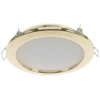 Встраиваемый светильник светодиодный 6 Вт 4000K 550Lm 220В цвет золото
