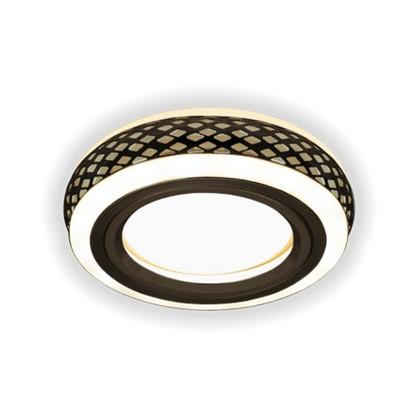 Встраиваемый светильник светодиодный Gauss Backlight BL082 круглый GU 5.3 3 Вт 3000 K цвет бронза/белый
