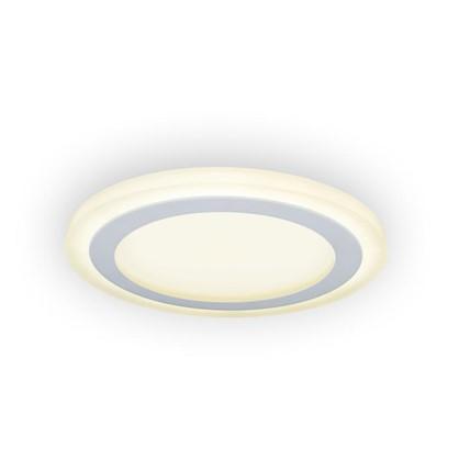 Встраиваемый светильник светодиодный Gauss Backlight BL118 круглый 12/4 Вт 3000 K алюминий/акрил цвет белый