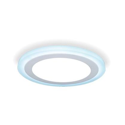 Встраиваемый светильник светодиодный Gauss Backlight BL119 круглый 12/4 Вт 4000 K алюминий/акрил цвет белый