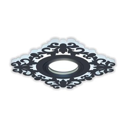 Встраиваемый светильник светодиодный Gauss Backlight BL129 квадратный GU 5.3 3 Вт 4000 K алюминий/акрил цвет черный