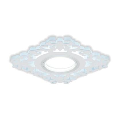 Встраиваемый светильник светодиодный Gauss Backlight BL130 квадратный GU 5.3 3 Вт 4000 K алюминий/акрил цвет белый