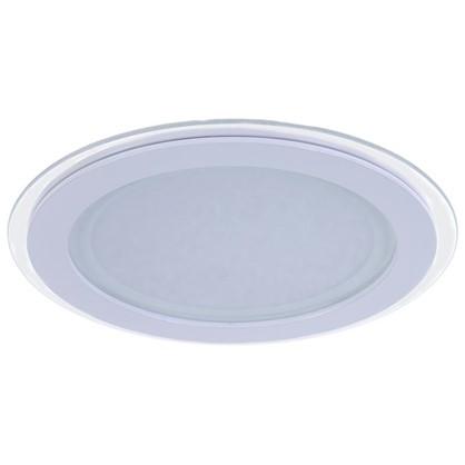 Встраиваемый светильник светодиодный круглый Gauss 18 Вт стекло свет нейтральный