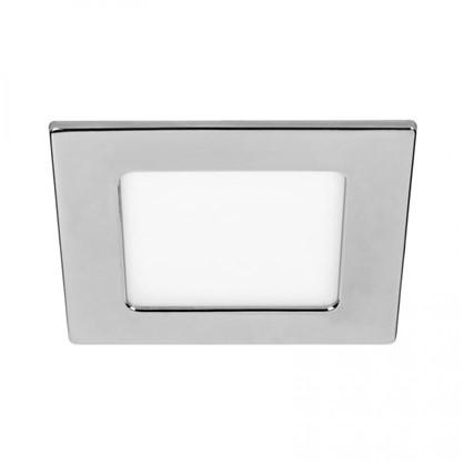 Встраиваемый светильник светодиодный квадратный DLUS LED5W 5 Вт цвет хром