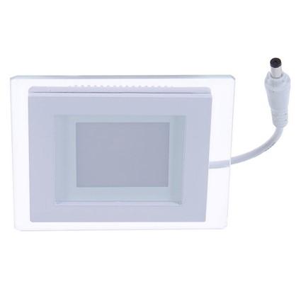 Встраиваемый светильник светодиодный квадратный Gauss 6 Вт стекло свет теплый белый