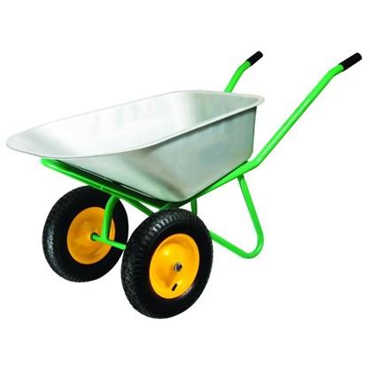 Тачка садовая на двух колёсах усиленная 320 кг/100 л в