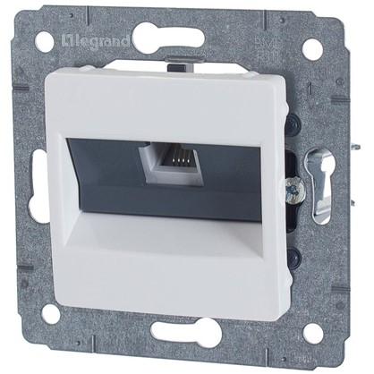 Телефонная розетка Legrand Cariva RJ11 1 разъем цвет белый