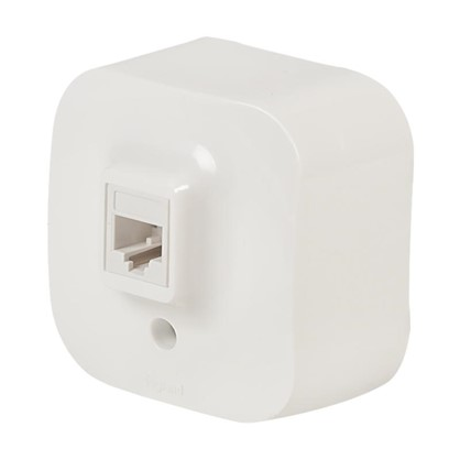 Телефонная розетка Quteo RJ11 цвет белый