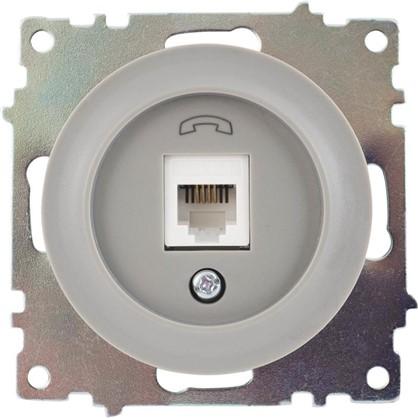 Телефонная розетка RJ11 Florence цвет серый